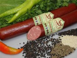 Колбаса Чеченская палка полукопченая КУМК, цена за 400 гр