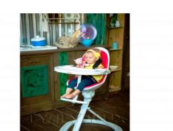 Детский стульчик для кормления lyalyalux (красный)