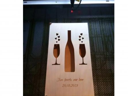 Подарочная коробка для бутылки и стаканов