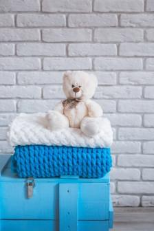 Плед ручной вязки детский