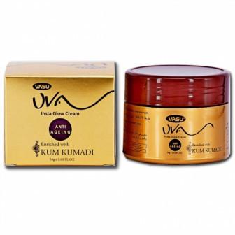 Крем Кумкумади Insta Glow Cream, Омолаживающий Аюрведический Vasu 50г