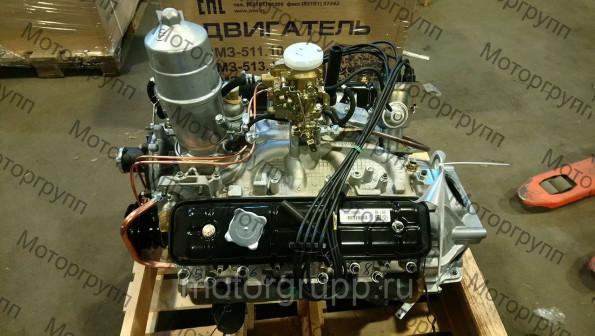 Двигатель 5234 на ПАЗ 3205 без ремней, катушки зажигания, генератора, насоса ГУР и компрессора