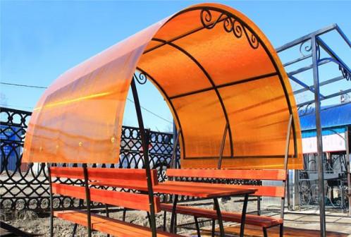 Сотовый поликарбонат, цвет оранжевый