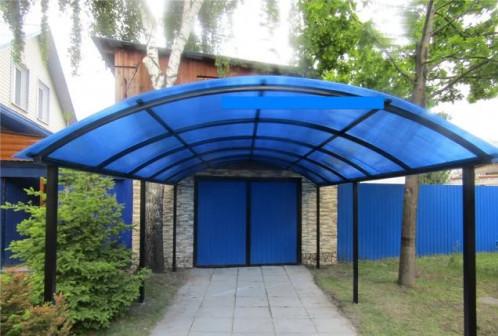 Сотовый поликарбонат, цвет синий
