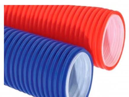 Дренажные трубы двухслойная труба