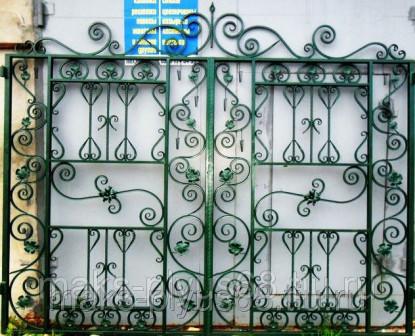 Ворота кованые Изумрудные