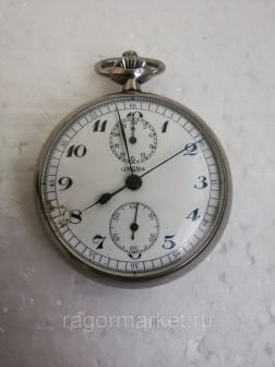 Часы   хронограф карманные механические Lemania
