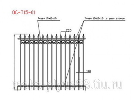 Забор кованый недорого