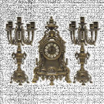 Часы каминные и 2 канделябра Заммэ , 3 предм