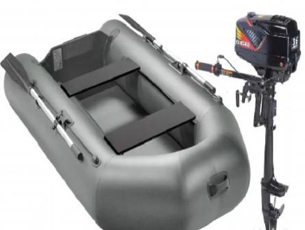 Лодка пвх Арчер 280+мотор Hangkai 3.6 Комплект
