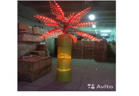 Световые пальмы для декора ресторана или гостиницы