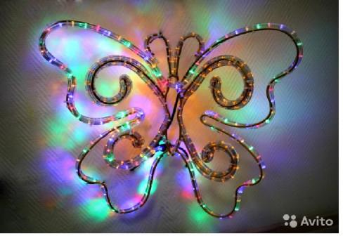 Световая фигура Бабочка для декора помещений