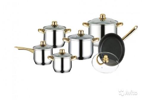 Набор посуды из нержавейки Mercury MC-6008