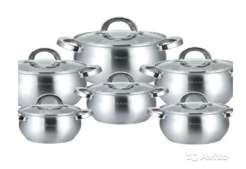 Набор кастрюль Mercury MC-6013 / Посуда нержавейка