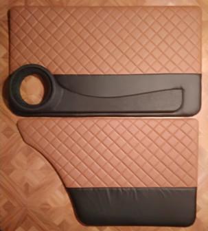 Обшивки дверей на ВАЗ 2107 (ромб) с подиумами под 16е динамики.