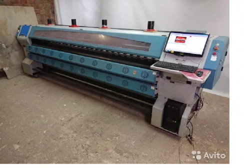 Сольвентный широкоформатный печатный станок(принт)