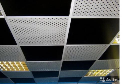 Потолок кассетный перфорированный белый 600х600 мм