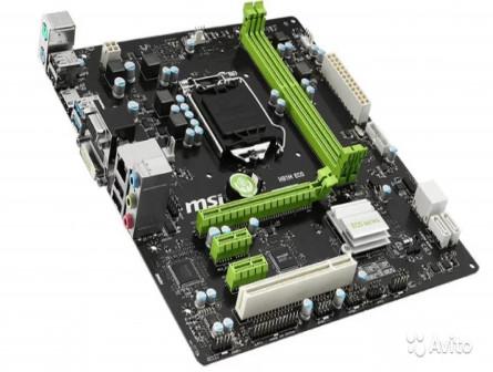 MSI H81M ECO Soc-1150 Intel H81 2xDDR3 mATX AC97