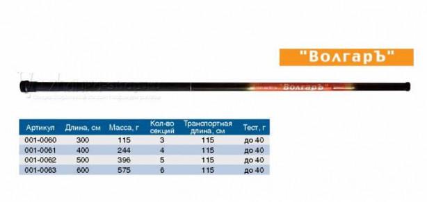 Удилище бк Волгарь 5,0м (5 секций) тест до 40гр (композит)