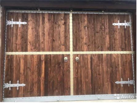 Ворота деревянные,ворота из массива дерева