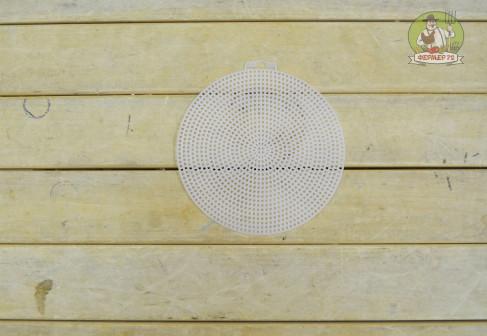Коврик дренажный полимерный белый, круг 14,8 см