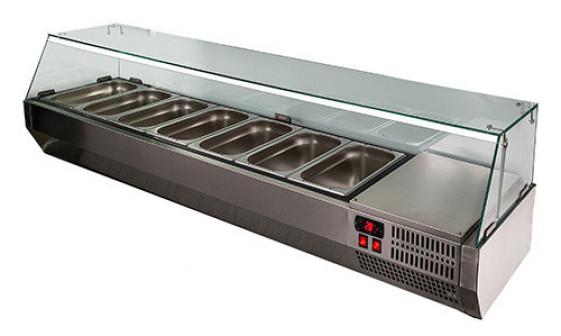 Холодильная витрина Полюс Carboma VT3 G с крышкой