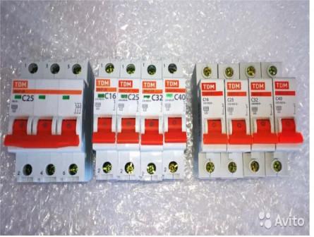 Автоматические выключатели 1П и 3П TDM
