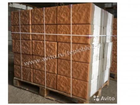 Теплоблоки 40 см с колерованным фасадом
