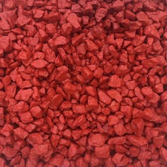 Красный крашеный щебень