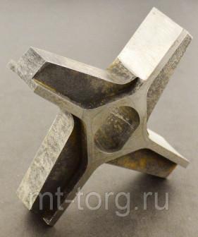 Нож крестовой D125 (25х20) без бурта фрезерованный, Россия