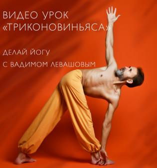Видео урок по йоге Триконовиньяса