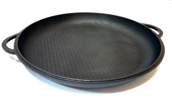 Крышка сковорода чугунная 400 Ситон