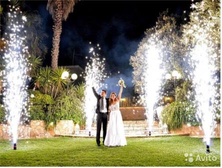 Фонтаны холодного огня на свадьбу