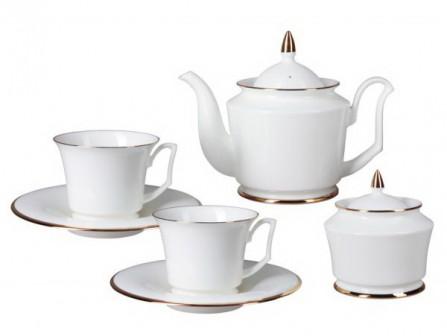Сервиз чайный Золотая лента 14 предметов (Юлия) Императорский фарфоровый завод (ЛФЗ) 8123999001