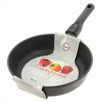Сковорода литая, с мраморным антипр покр, съем ручка, ПАПРИКА, Tima 24 см