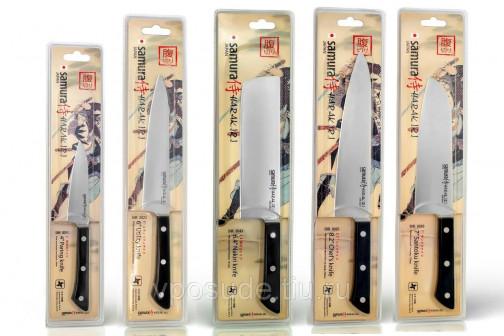 Набор из 5 ножей Samura Harakiri Black и браш подставки (упакованы отдельно)