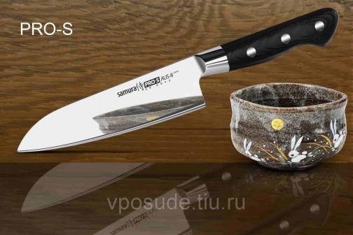 SP 0095G 10 Нож кухонный Сантоку японский Шеф Samura PRO S