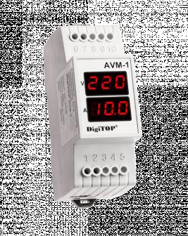 Амперметр-вольтметр переменного тока digitop аvм-1