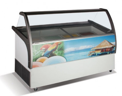 Витрина для мороженого crystal ELEGANTE 56