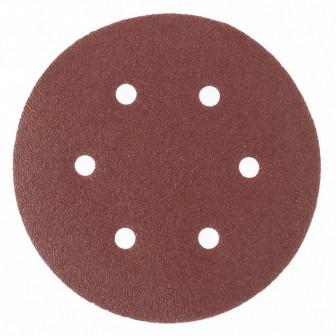 Круг абразивный на ворсовой подложке под липучку, перфорированный, P 600, 150 мм, 5 шт Matrix