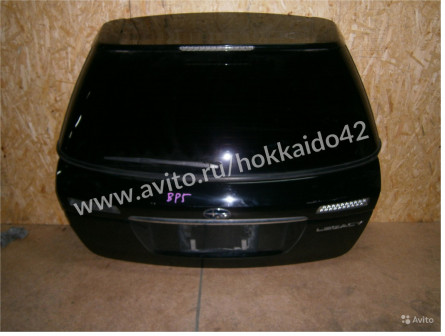 Дверь 5-я, Subaru Legacy, BP5, 2005г., черный
