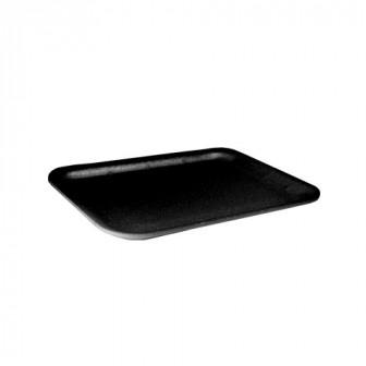 Лоток из вспененного полистирола для ручной упаковки черные D 11 225х135х10 450штуп