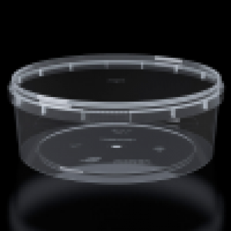 Банка круглая 1000мл прозрачная d 170мм h 62мм + крышка 1680шткор