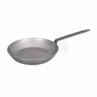 Сковорода c ручкой,белая сталь 26 h=46см