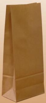 Пакет бумажный крафт 2008050 под фасовку продуктов и товаров
