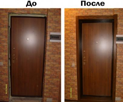 Доборы на входные и межкомнатные двери