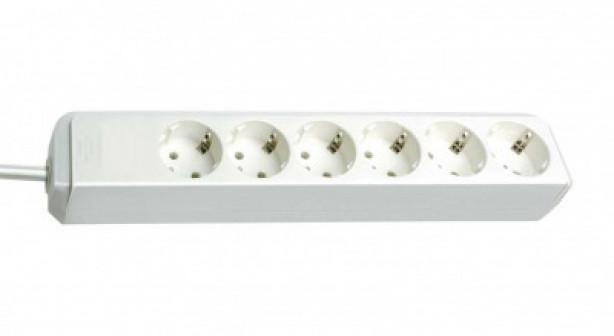 Удлинитель 1,5 м Brennenstuhl ECO Line, 6 розеток, белый (1159420015)
