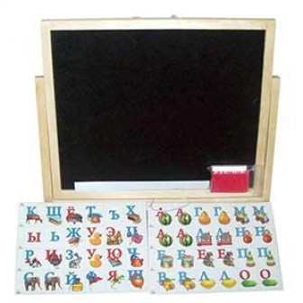 Мольберт 2 х сторонний настольно настенный с алфавитом