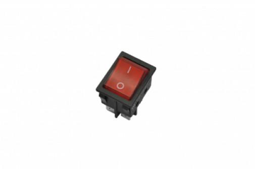 Переключатель KCD4-JK/N, красный неон, 16А, 250V