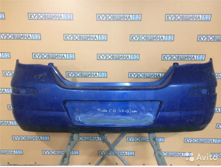Бампер задний Nissan Tiida C11 (07-12г)